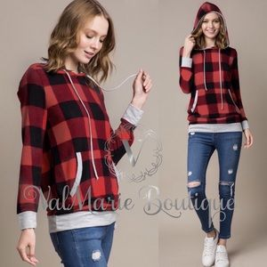 🙀ALMOST GONE! BUFFALO PLAID HACCI hoodie